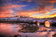 Praia De Faro Prints - Tavira Sunset Print by Nigel Hamer