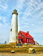 Navigate Framed Prints - Tawas Michigan Lighthouse Framed Print by Nick Zelinsky