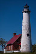Patrick Shupert Metal Prints - Tawas Point Lighthouse Metal Print by Patrick Shupert