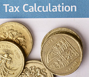 Coins Posters - Tax calculation Poster by Paul Cowan