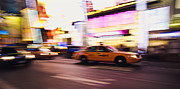 Thomas Richter Metal Prints - Taxi at Times Square - New York City Metal Print by Thomas Richter