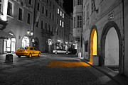 Prague Digital Art Prints - Taxi Print by Brendan Quinn