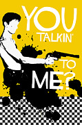 Scorsese Posters - Taxi Driver Movie-Quote-with-a-gun Poster by Edgar Ascensao