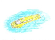 Science Fiction Drawings - Taxi by Ty Walsh Trez