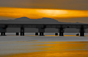 Normans Photos - Tay Rail bridge and Normans Law by Corinne Mills