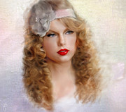 Taylor Swift Art - Taylor by Hazel Billingsley