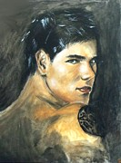 Acrylic On Canvas Paintings - Taylor Lautner - Jacob Black by Marcello Cicchini