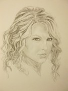 Taylor Swift Drawings - Taylor Swift by Christie Poole