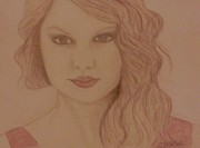 Star Drawings Posters - Taylor Swift Poster by Christy Brammer