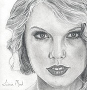 Taylor Swift Art - Taylor Swift Cropped by Sierra Mink