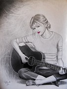 Taylor Swift Drawings - Taylor Swift  by Joseph Unruh