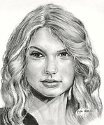 Taylor Swift Drawings - Taylor Swift by Mick ODay