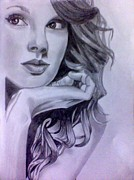 Taylor Swift Drawings - Taylor Swift by Mukul Dhankhar
