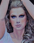 Singer Paintings - Taylor Swift by Shirl Theis