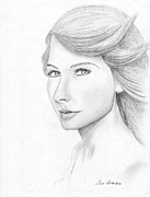 Taylor Swift Drawings - Taylor Swift Sketch by Jose Valeriano