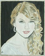 Taylor Swift Painting Prints - Taylor Swift Print by Vinit Sharma