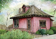 Indiana Flowers Mixed Media - T.C. Steele Cottage by John Christopher Bradley
