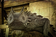 Carroll Posters - TCU Horned Frog Poster by Joan Carroll