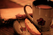 Biscotti Photos - Tea and Biscotti by Ruthie Lombardi