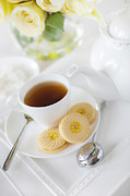 Tea Time Prints - Tea and Cookies Print by Diane Diederich