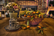 Basket Photo Originals - Tea and Oranges That Come All the Way from China  by William Fields