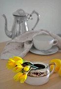 Table Top Framed Prints - Tea at Four Framed Print by Diana Angstadt