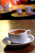 Teacup Photos - Tea at the Shop by Olivier Le Queinec