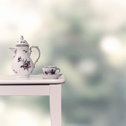 Porcelain Prints - Tea Cup And Pot Print by Joana Kruse