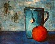 Idea Paintings - Tea cup- orange tea by Patricia Awapara