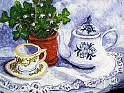 St Barbara Prints - Tea for Nancy Print by Barbara McDevitt