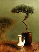 Miniatures Metal Prints - Tea for One Metal Print by Christy Olsen