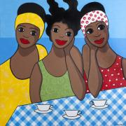 Caribbean Sea Paintings - Tea for Three by Trudie Canwood