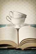 Pages Prints - Tea for Two Print by Amy Weiss