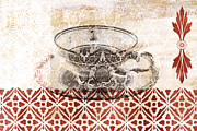 Table Mixed Media Metal Prints - Tea House Metal Print by Frank Tschakert