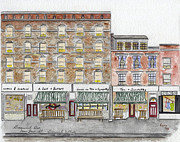 Greenwich Village Paintings - Tea n Sympathy and A Salt n Battery by Lynn Lieberman