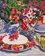 Tea Cups Paintings - Tea Party by  David Lloyd Glover