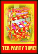 Furniture Sculpture Posters - Tea Party Time Poster by Maryann  DAmico