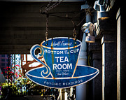 Street Sign Digital Art Posters - Tea Room Poster by Perry Webster