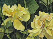 Gardenscape Paintings - Tea Rose by Natasha Denger