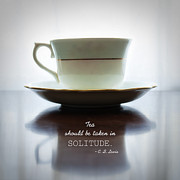 Tea And Sympathy Framed Prints - Tea Should Be Taken in Solitude Framed Print by Claire Carpenter