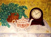 Desiree Paquette Painting Framed Prints - Tea Time Framed Print by Desiree Paquette