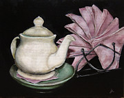 Diane Kraudelt Art - Tea Time by Diane Kraudelt