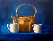 Janet King Painting Metal Prints - Tea Time Metal Print by Janet King