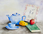 Teapot Paintings - Tea Time by Marcia Wright