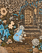 Tea Time  Old Storybook Style Print by Kyra Wilson