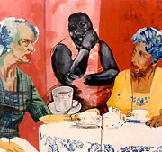 Uptown Painting Posters - Tea Time Uptown Poster by Michael  Singletary