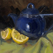 Interior Still Life Painting Metal Prints - Tea Toddlers Metal Print by Nancy  Parsons