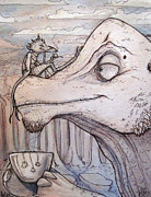 Adventure Mixed Media - Tea with a Friend by Alexa Renee Smothers