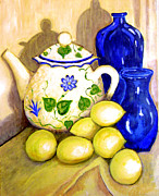 Teapot Painting Posters - Tea with Lemon Poster by Robin Mead