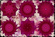 Quad Prints - Teabag Folding Fuschia Print by Margaret Newcomb